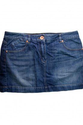 Детска къса дънкова пола