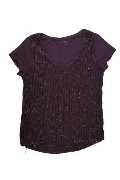 Блуза с къс ръкав Ann Taylor