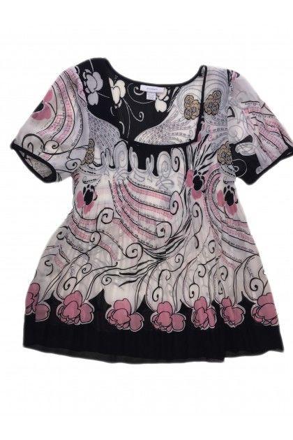 Блуза с къс ръкав Dressbarn